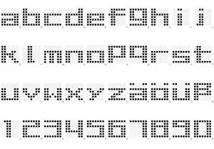 7x7 Pixel Alphabet