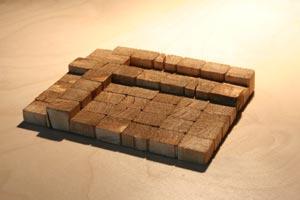 Holz Buchstabe 7x7 Pixel