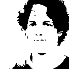 Binärbild mit 136 x 136 Pixeln
