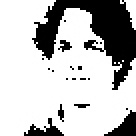 Binärbild mit 68 x 68 Pixeln