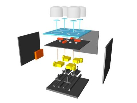 Explosionszeichnung des Modul Prototypen