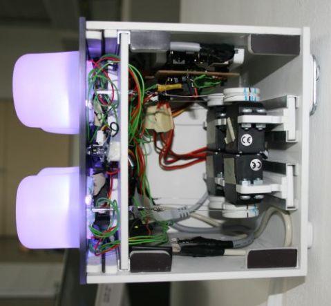 Blick in das Innere des Modul Prototypen