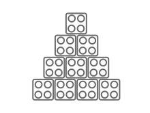 Anordungsvariante der SoftPixel Module im Dreieck