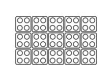 Anordungsvariante der SoftPixel Module im Rechteck