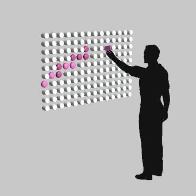 Das Konzept Soft Pixels als Interaktive Wand